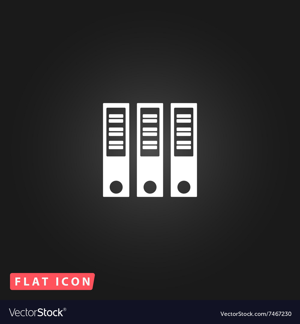 Binders flat icon vector