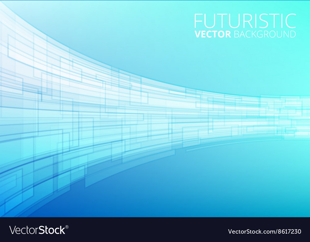 Blue abstract technology vector