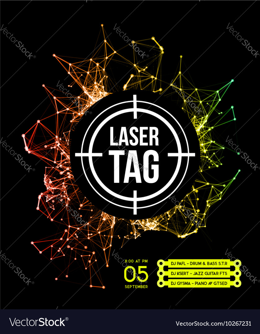 Laser tag with target vector