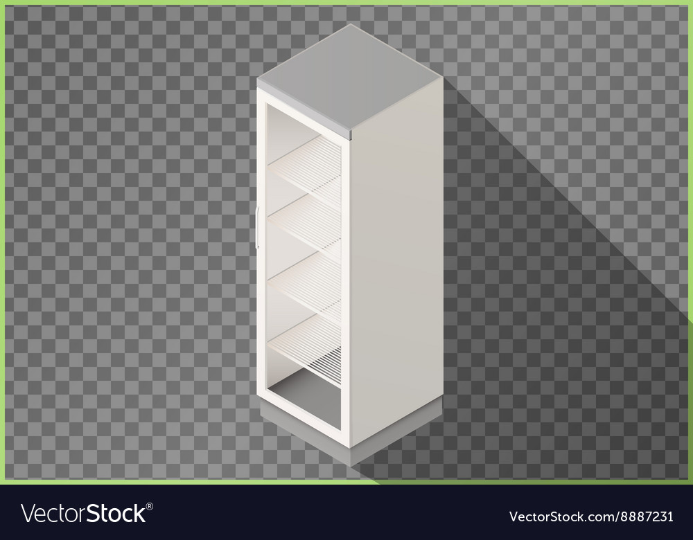 Refrigerator flat isometric fridge 3d vector