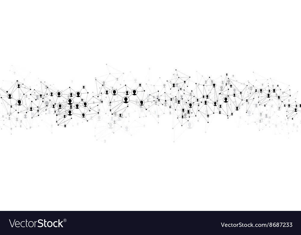 Global communication banner vector