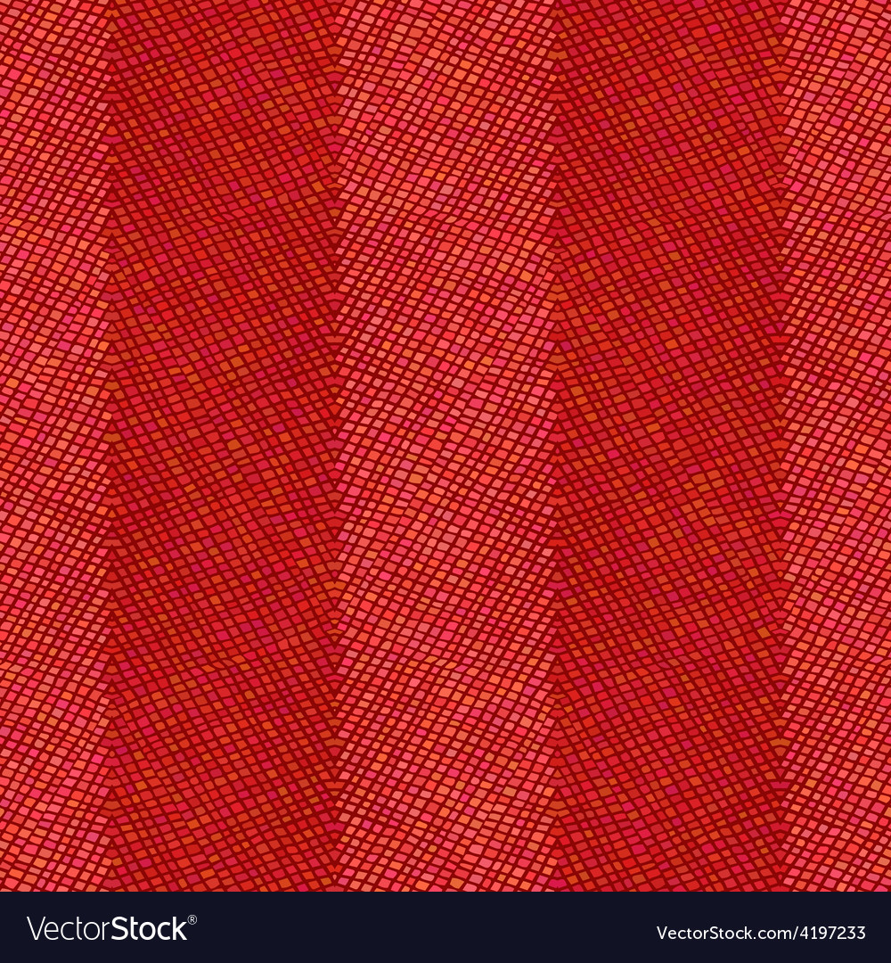 Seamless red crochet pattern vector