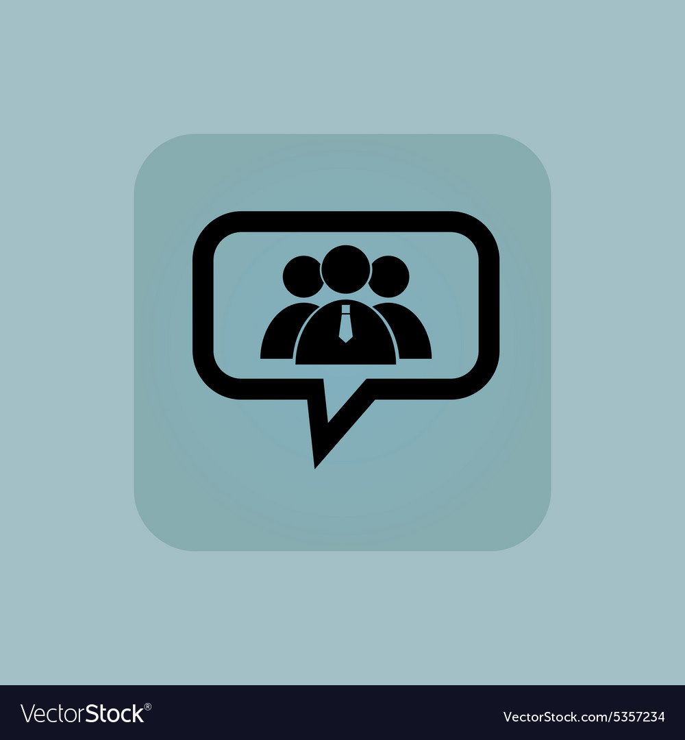 Pale blue user group message vector