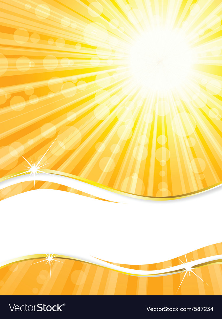 Sunshine banner vector