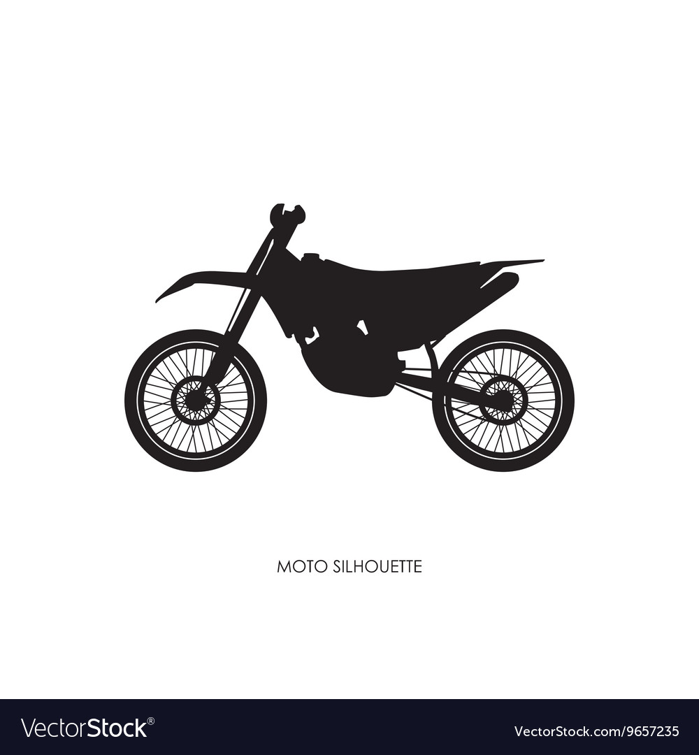 Black silhouette of a sports bike vector