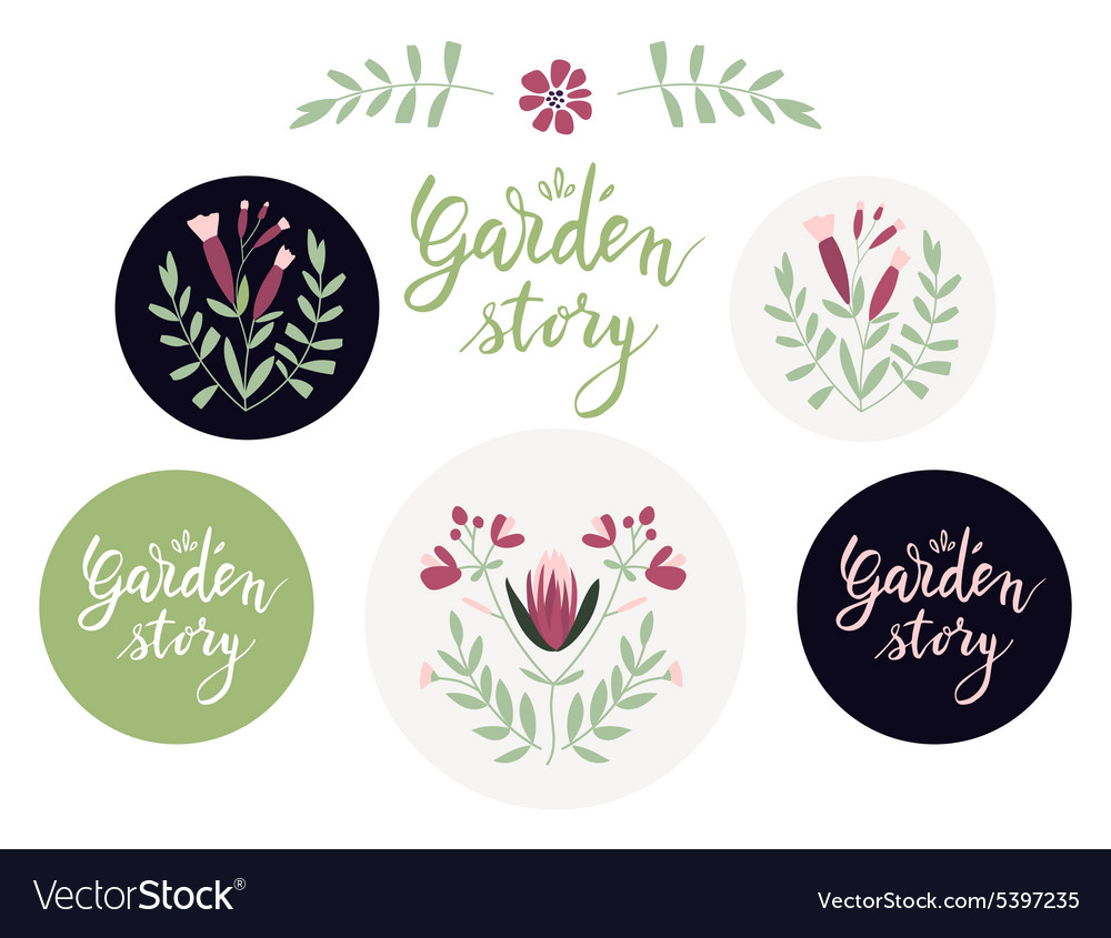 Set of additional design elements and badges with vector