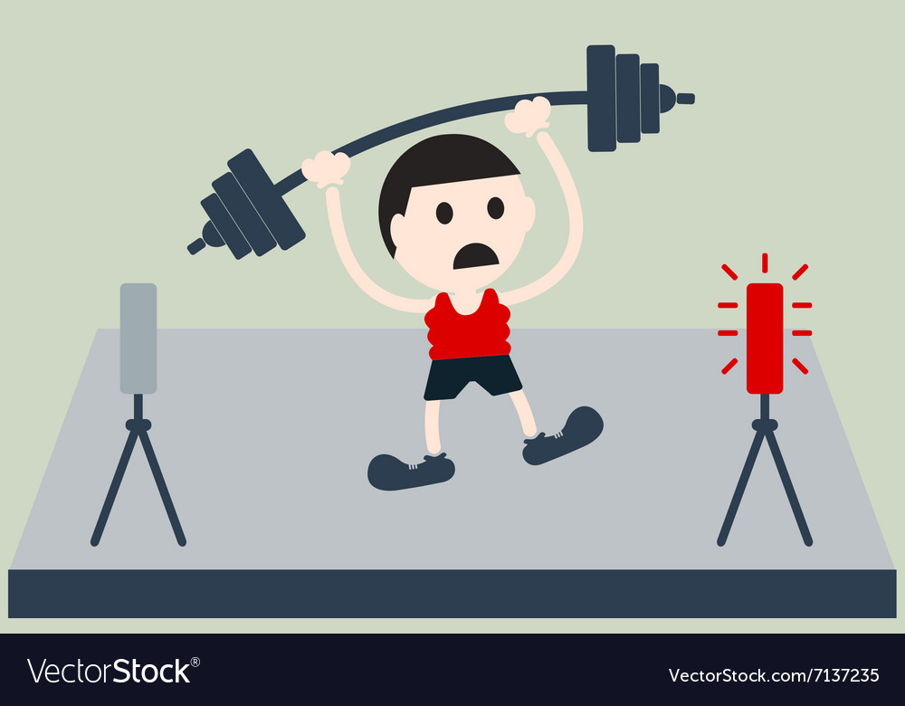 Weightlifting athlete is lose vector