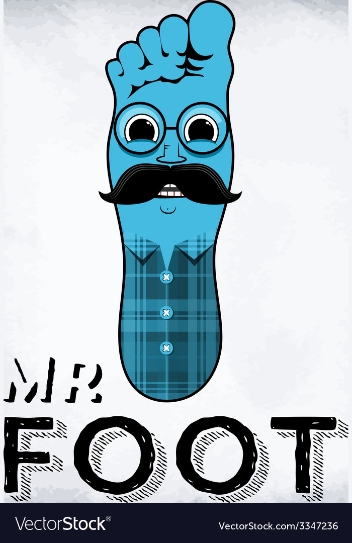 Mr foot vector