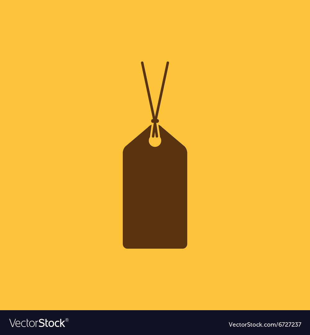 Price tag icon label symbol flat vector
