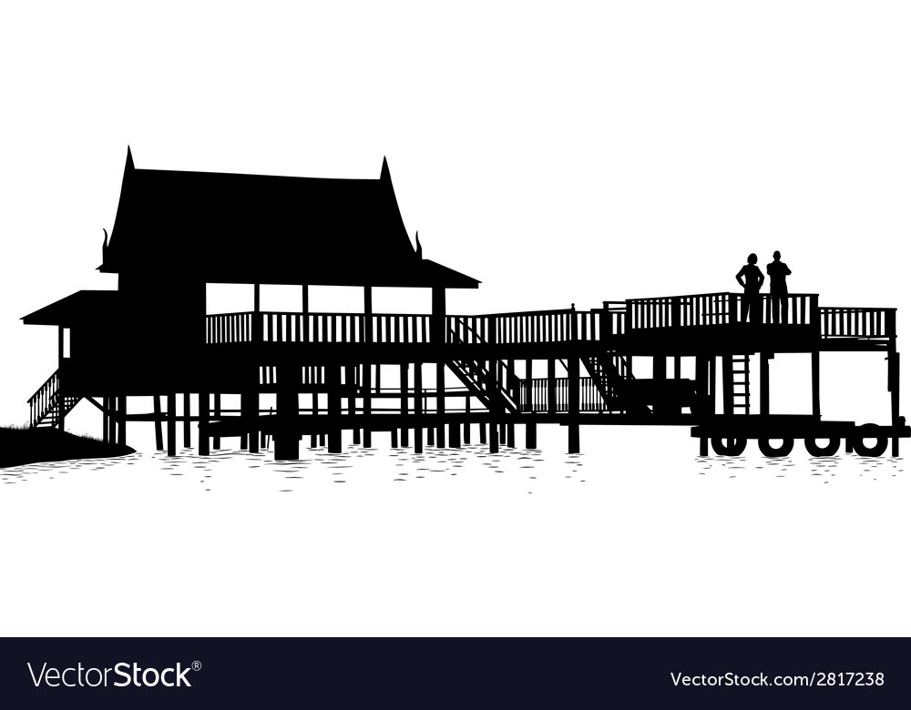 Water terrace vector