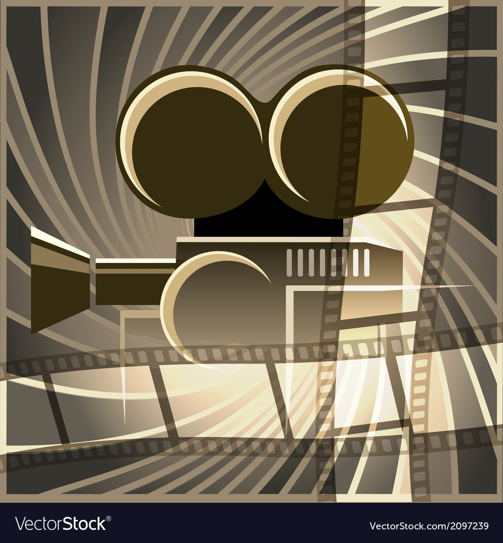 Movie art vector