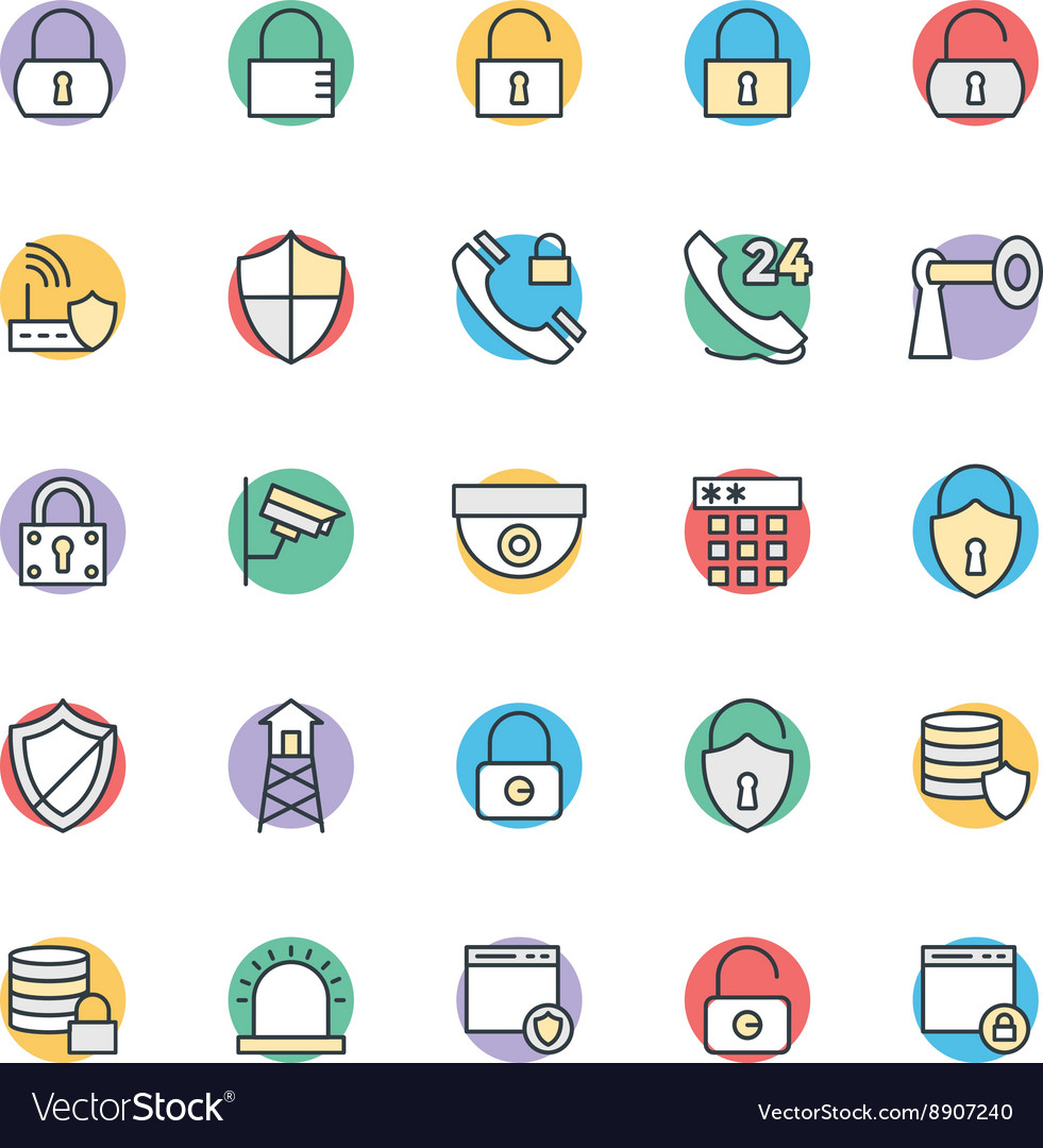 Security cool icons 1 vector