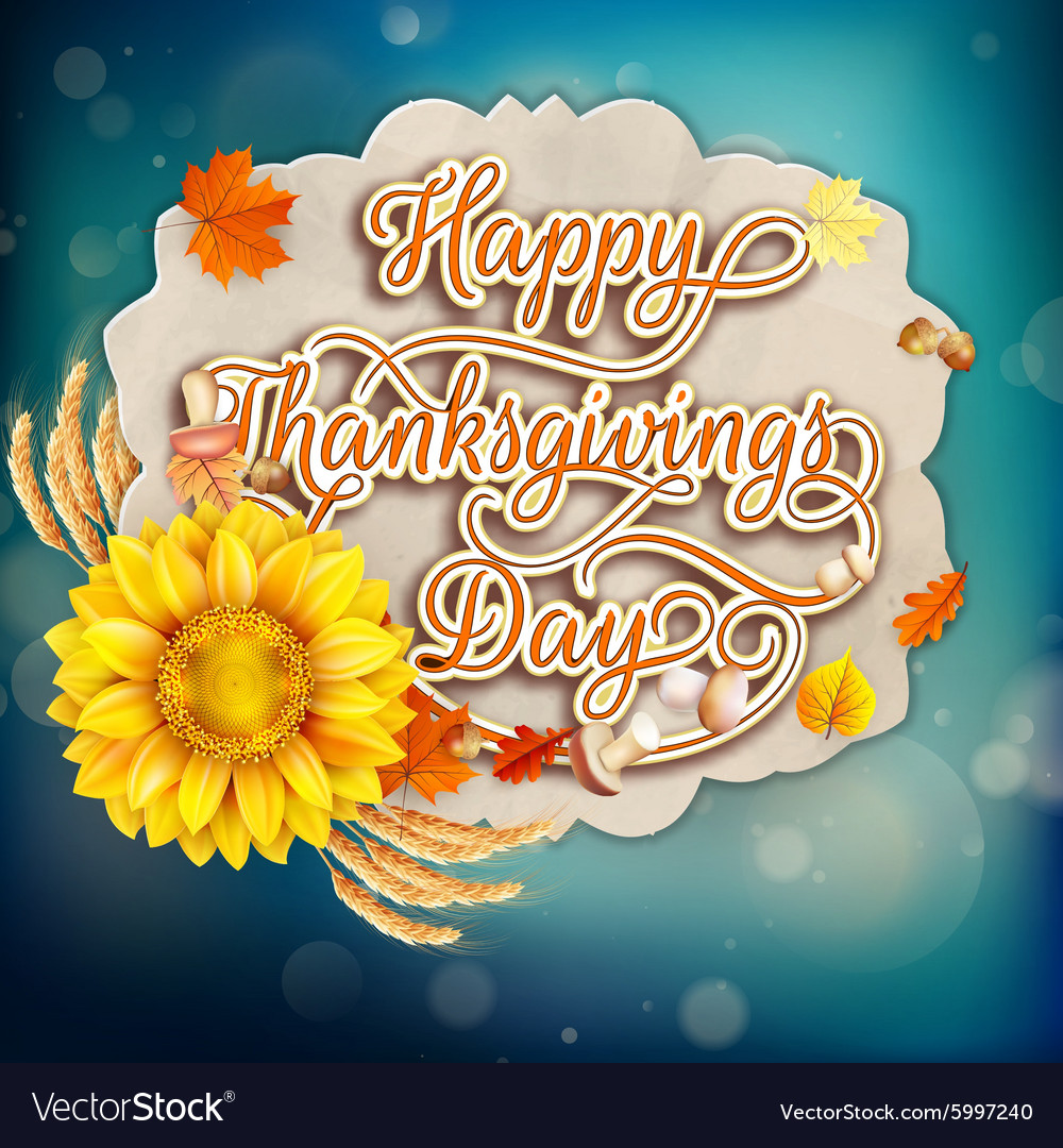 Thanksgiving day eps 10 vector