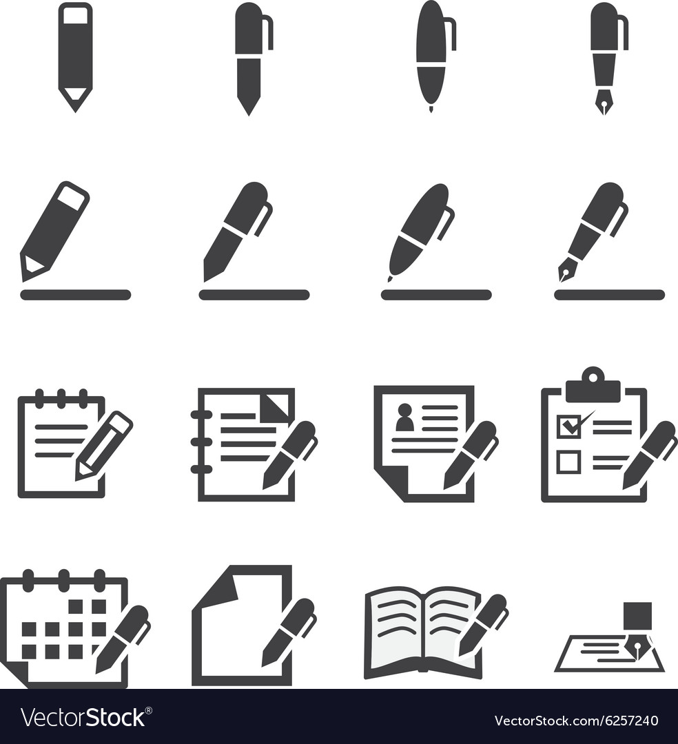 Writing icon vector