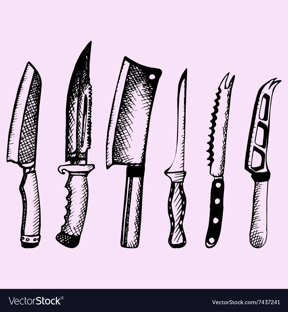 Kitchen knive vector