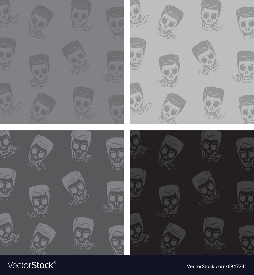 Skull background pattern vector