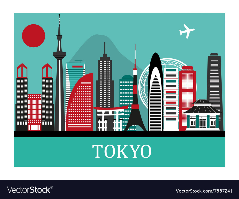 Tokio japan vector