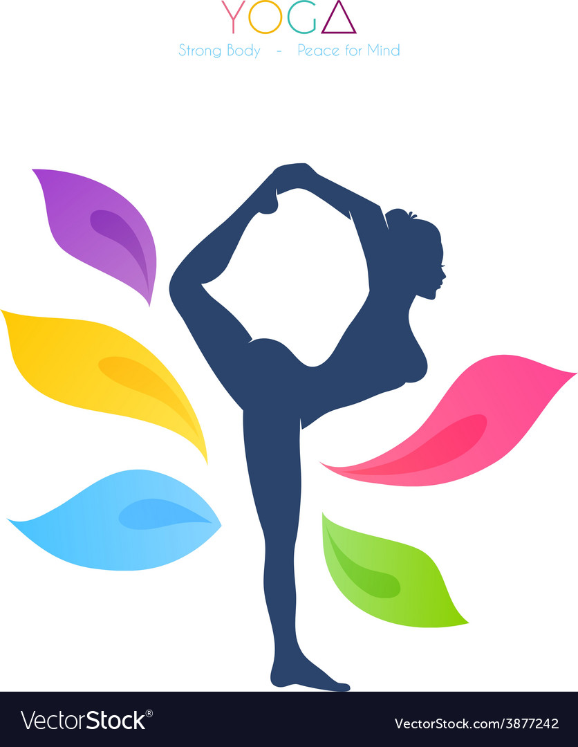Beautiful woman doing yoga vector