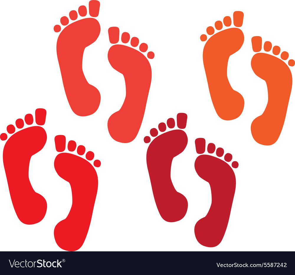 Set of a print foots vector