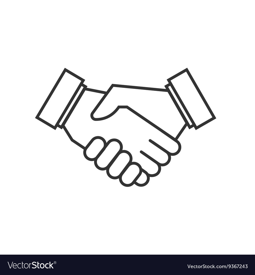 Business agreement handshake icons vector