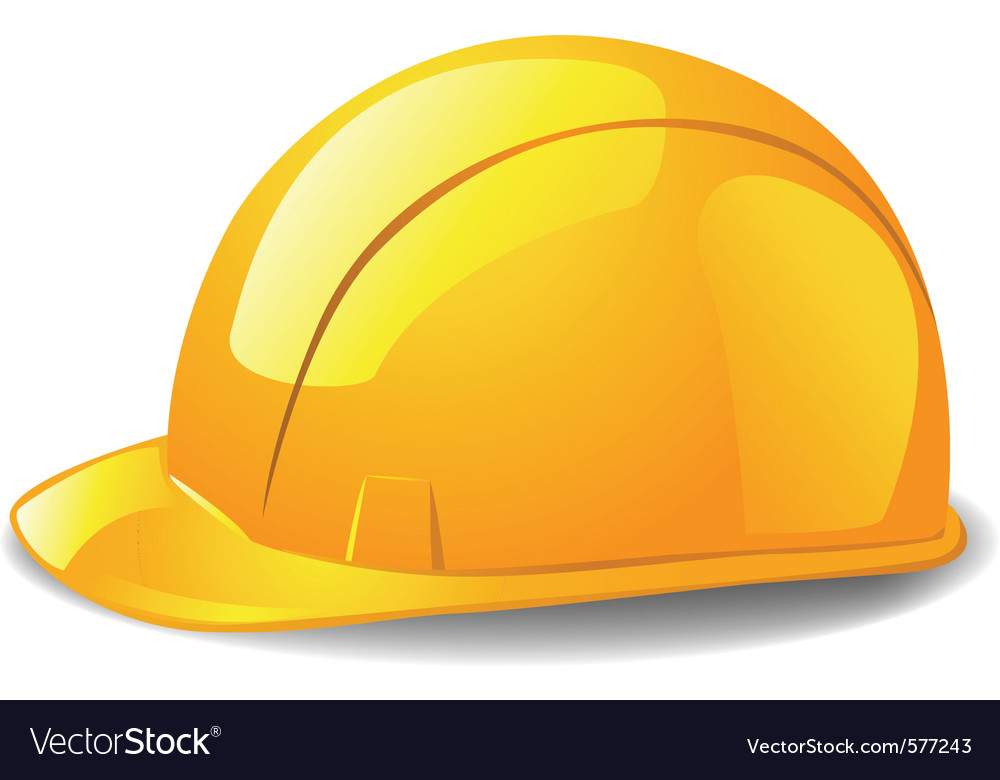 Safety hard hat vector