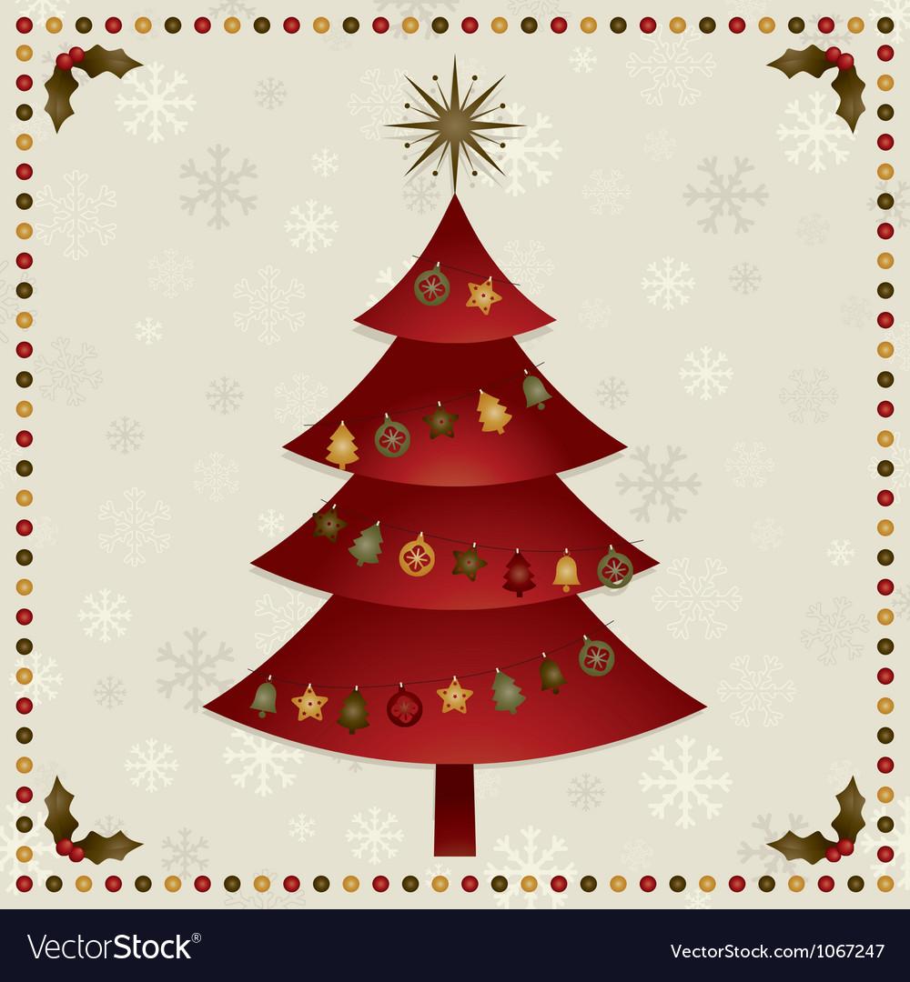 Christmas tree decoration vector