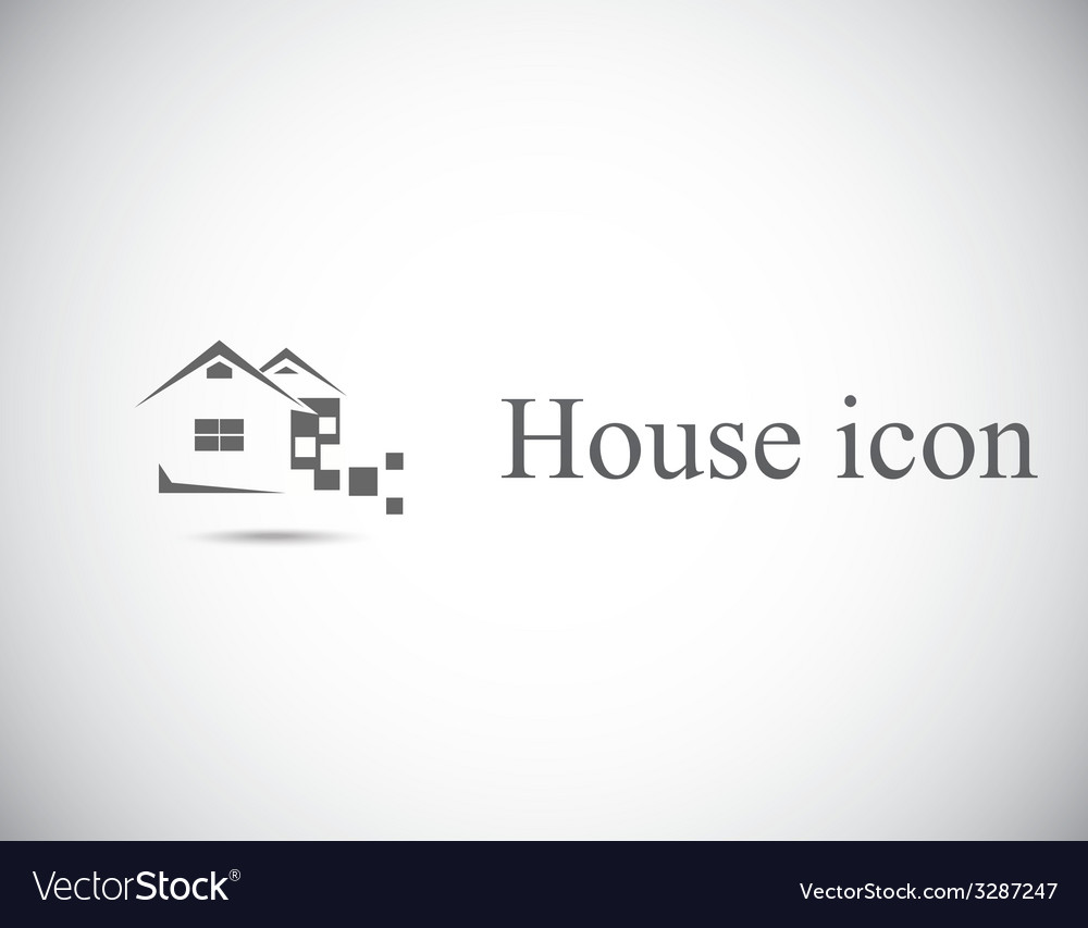 House abstract real estate vector
