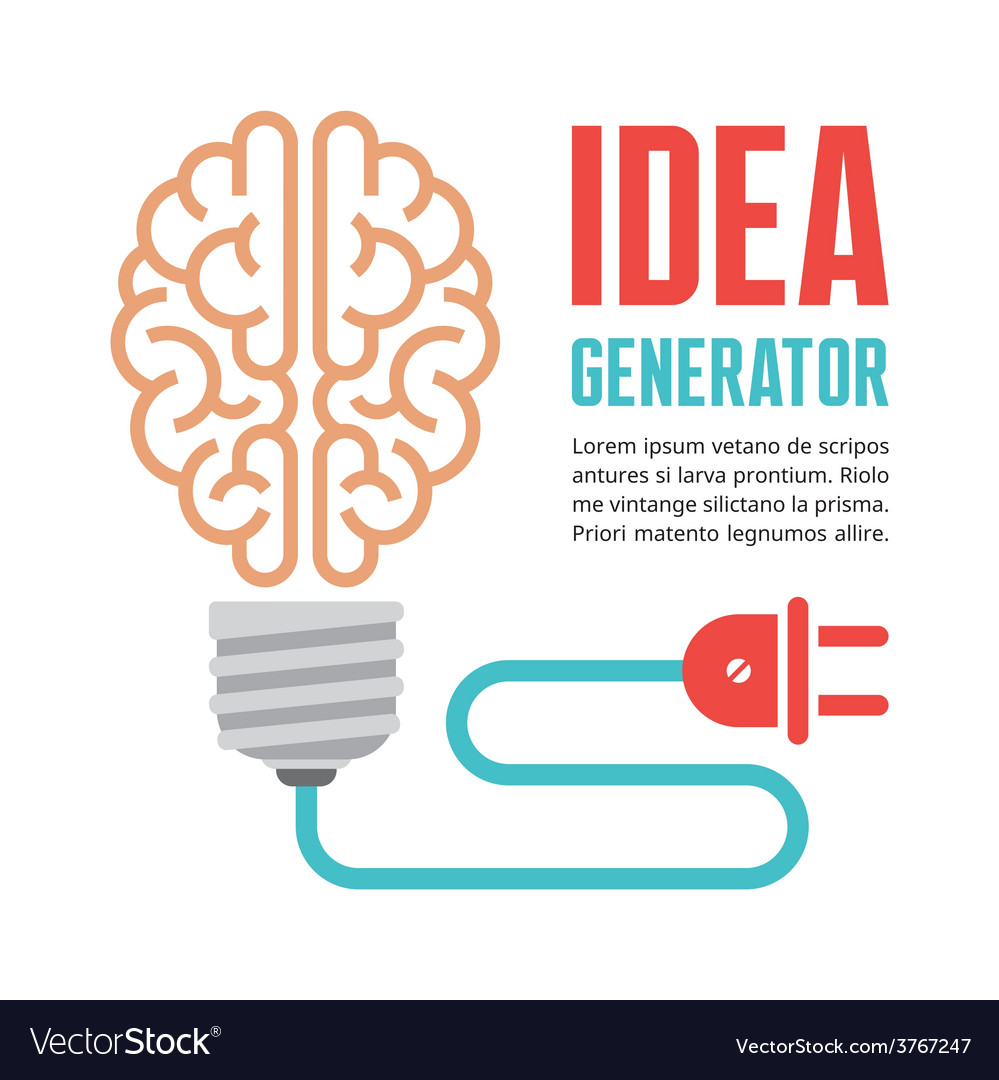 Human brain in light bulb vector