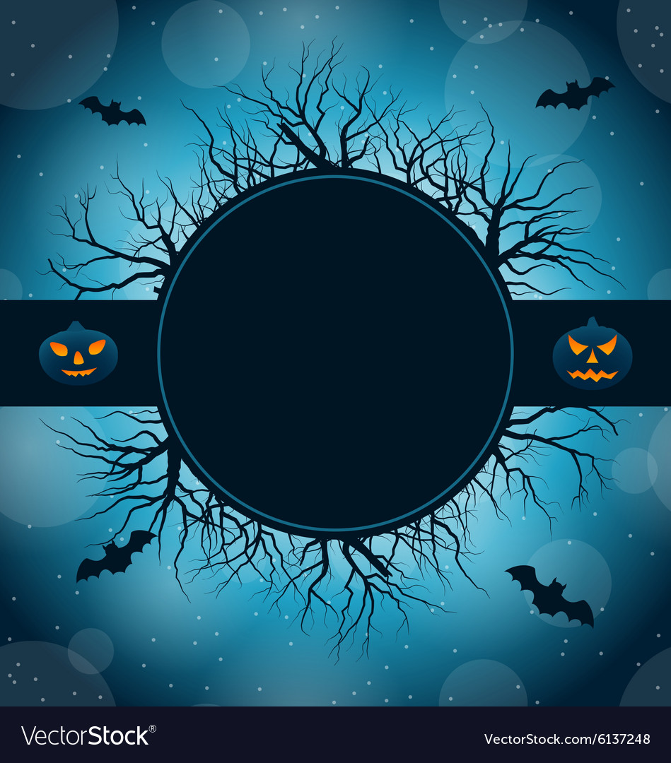 Celebration card for halloween party vector