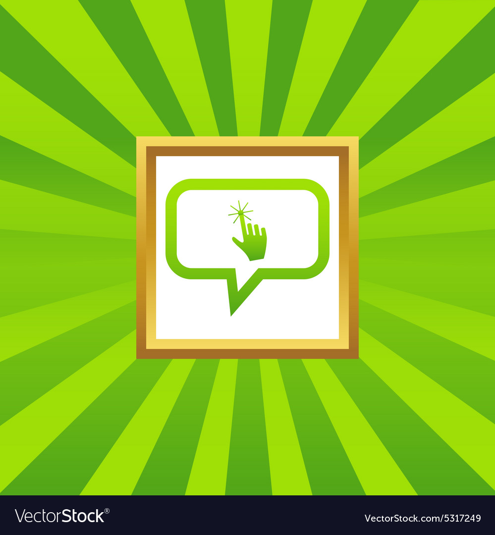 Hand cursor message picture icon vector