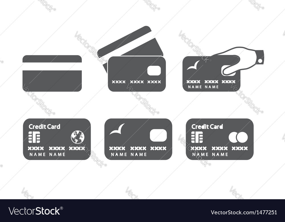 Credit card icons vector