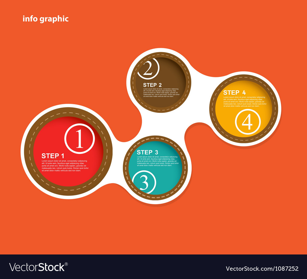 Info graphic circles with place for your text vector