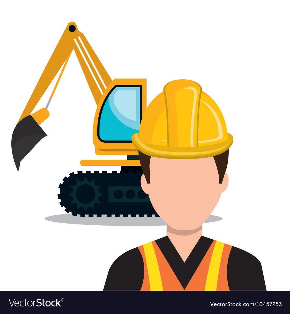 Builder constructor worker icon vector