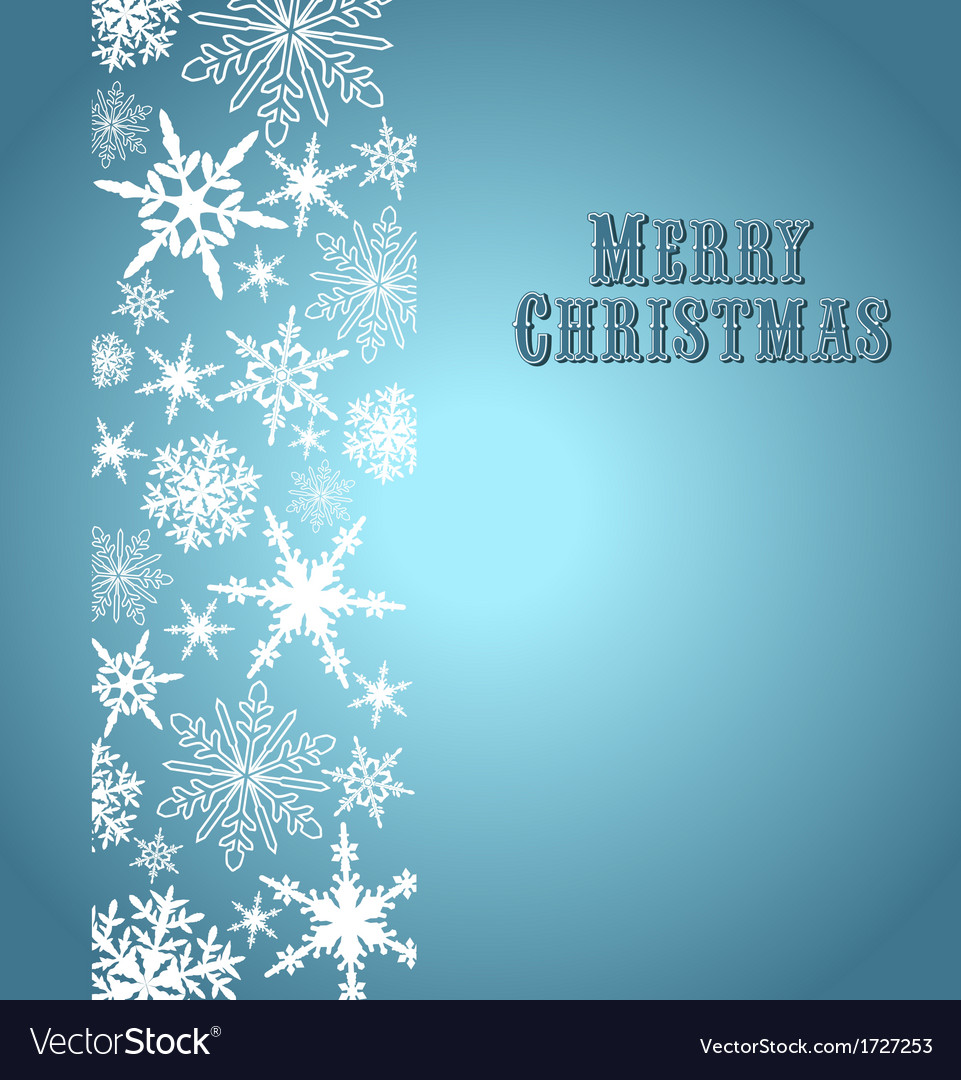 Christmas snowflake card silver blue vector