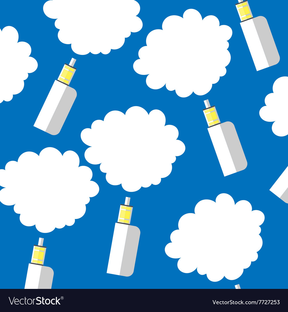 Electronic cigarette color background vector