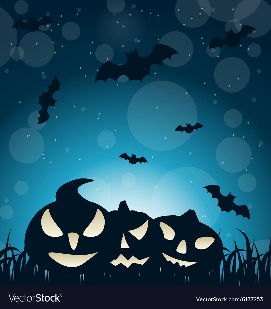 Halloween spooky dark background vector