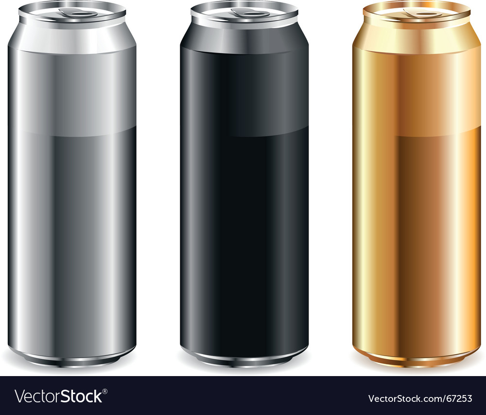 Set of cans vector
