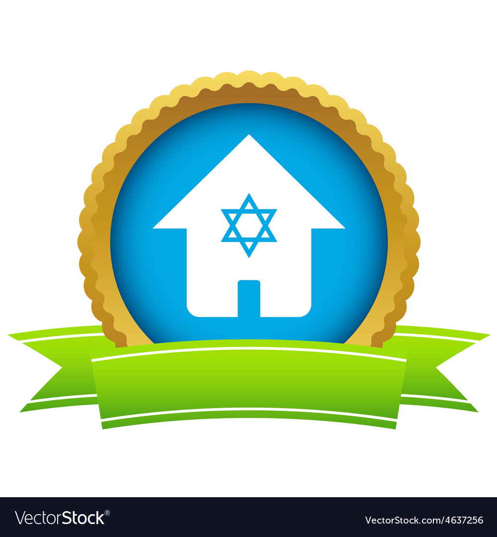 House with david star icon vector