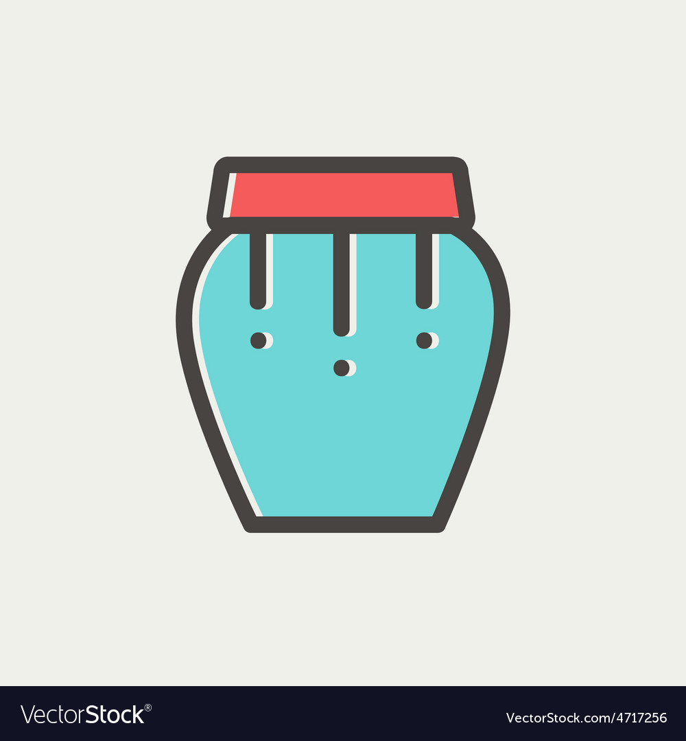 Percussion instrument thin line icon vector