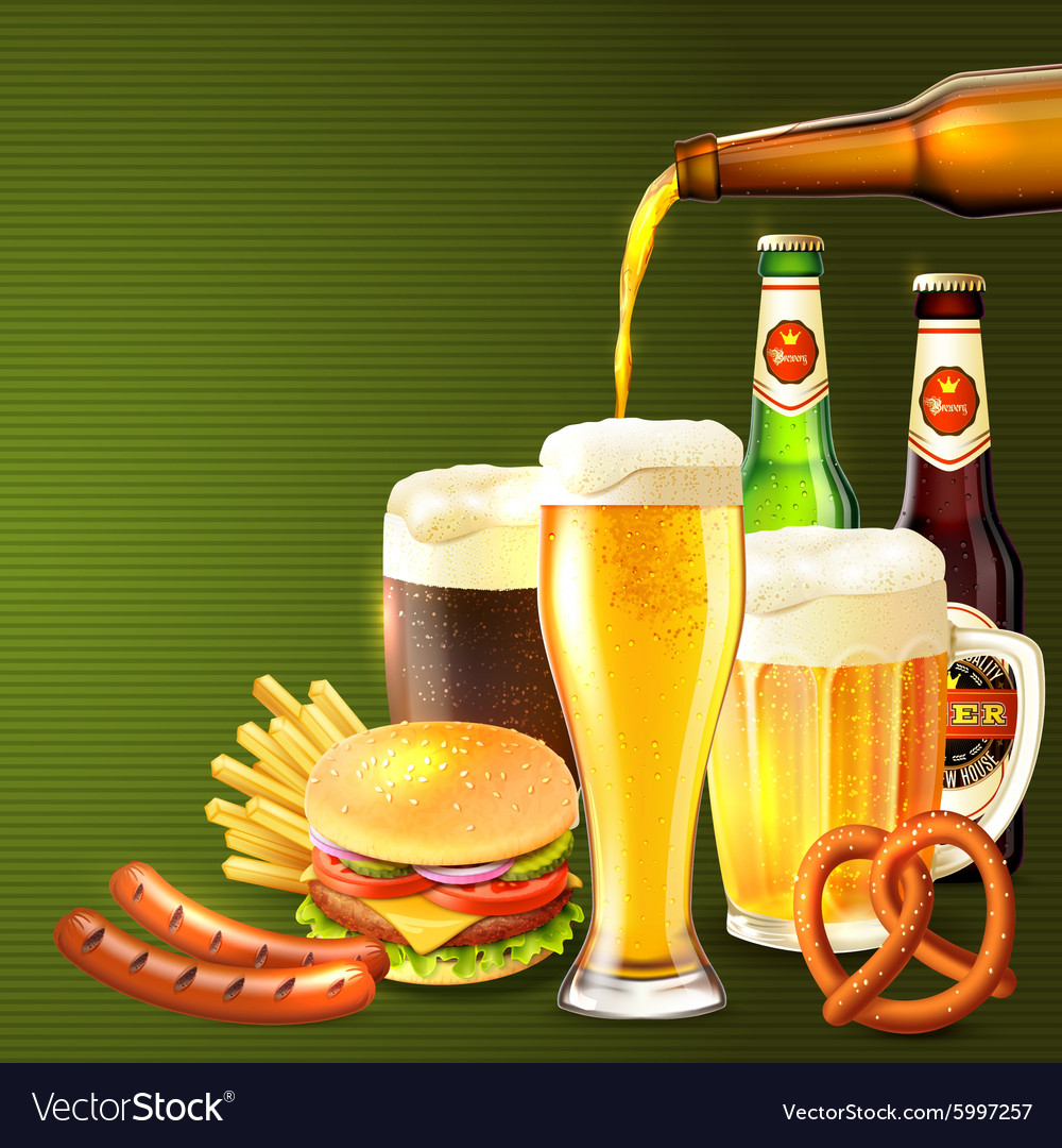 Beer realistic vector