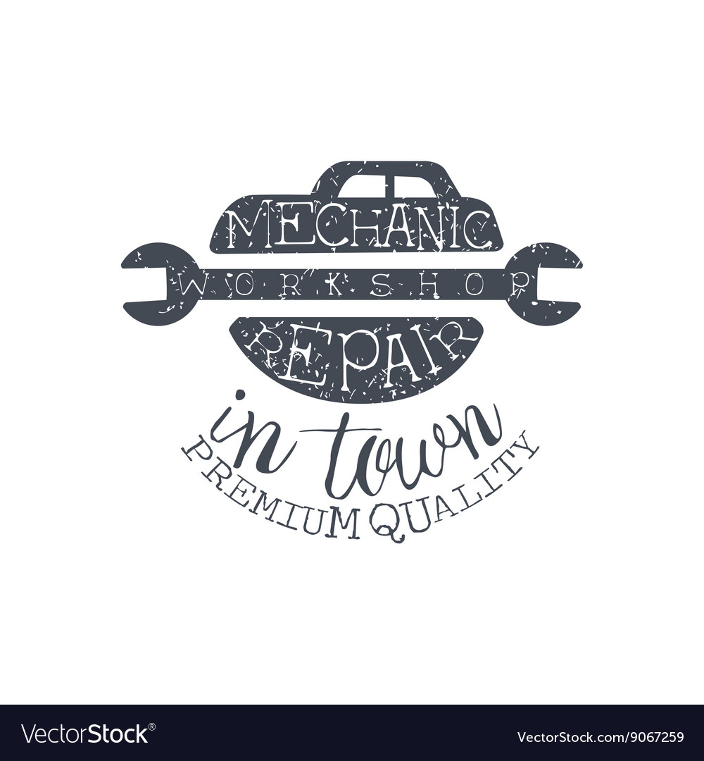 Car repair black vintage stamp vector