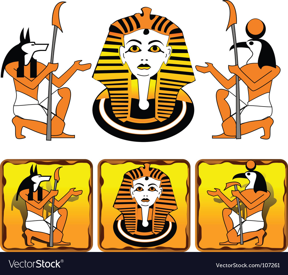 Tiles egyptian gods vector
