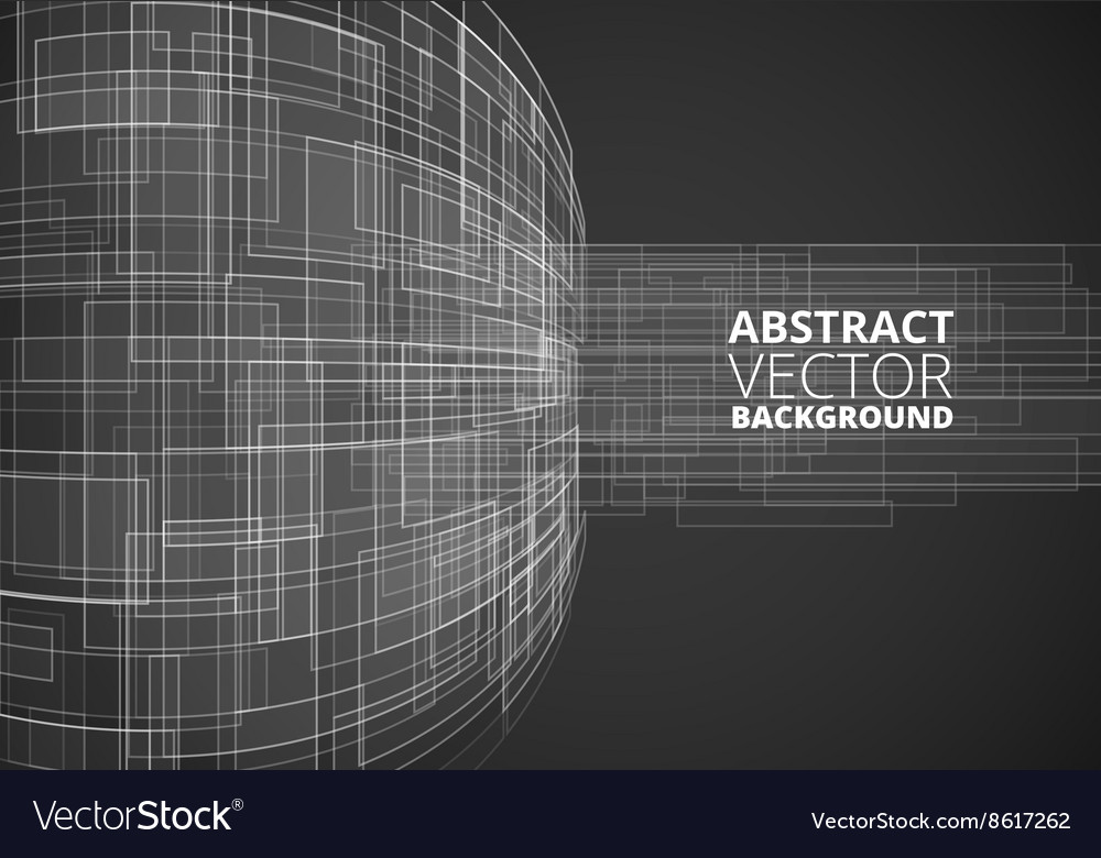 Black futuristic wire vector