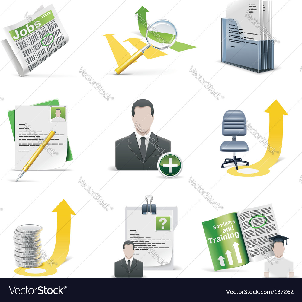 Recruiting icon set vector