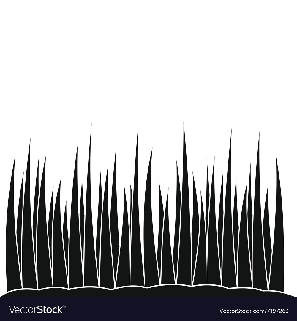 Growing grass black simple icon vector
