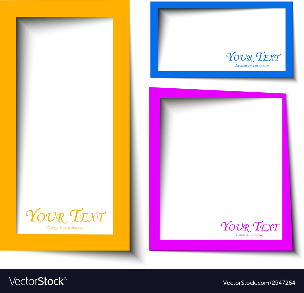 Abstract rounded rectange text boxes with colorful vector