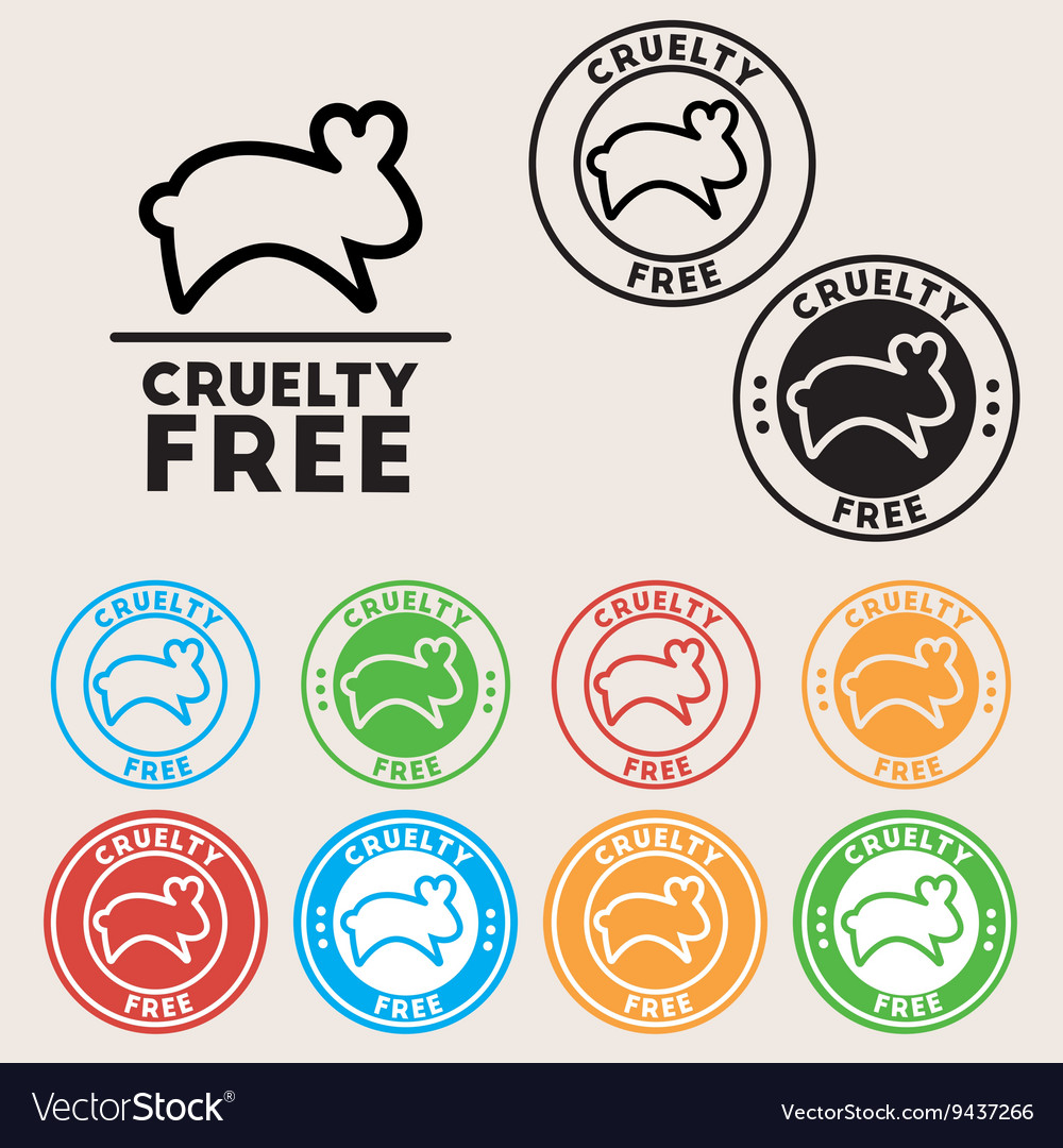 Cruelty free sign icon not tested symbol round vector