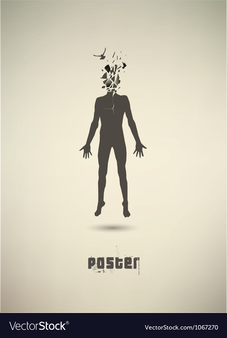 Conceptual poster the mental state of human vector