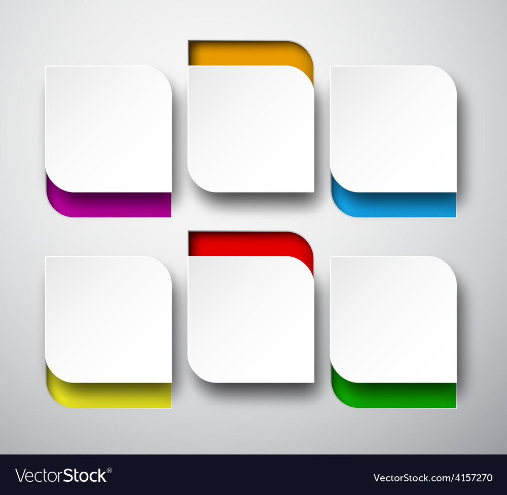 Paper white rounded notes vector