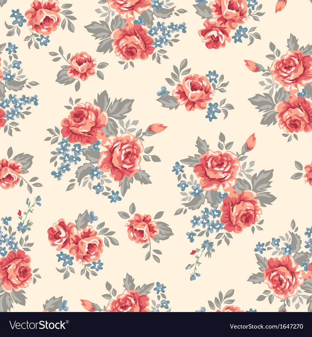 Retro classical roses vector